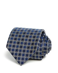 Bloomingdale's The Men's Store At Interlock Medallion Classic Tie Navy