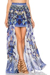 Camilla Short Full Overlay Skirt Blue