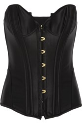 Agent Provocateur Penelope Boned Satin Corset Black