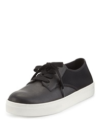 Koi Leather Low Top Sneaker Black Eileen Fisher