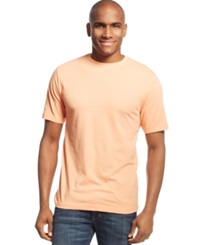 John Ashford Big And Tall Short Sleeve Crew Neck T Shirt Orange Mist