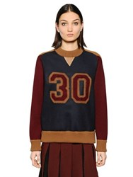 Tommy Hilfiger Collection Varsity Color Block Wool Sweater