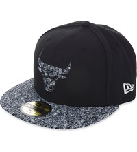 New Era 59Fifty Chicago Bulls Fitted Cap Black White