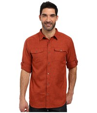 Columbia Pilsner Lodge Long Sleeve Shirt Rust Red Heather Men's Long Sleeve Button Up Brown