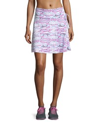 Soybu Serendipity Striped Ruched Waist Skirt Pink Moon