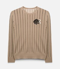Christopher Kane Striped Sequin Sweater Brown
