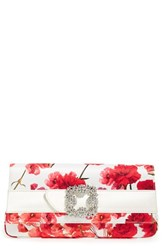 Manolo Blahnik 'Gothisi' Clutch Red Red Floral