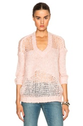 Acne Studios Manual Heavy Mohair Sweater In Pink