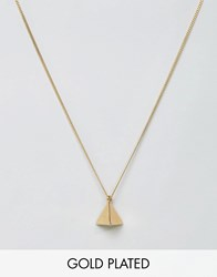 Love Bullets Lovebullets Pyramid Pendant Necklace In Gold Gold