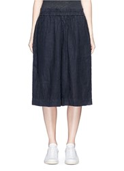 James Perse Linen Culottes Black
