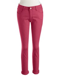 Lord And Taylor Petite Cuffed Ankle Jeans Very Berry