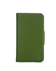 Polo Ralph Lauren Pebbled Green Leather Samsung Phone Case Kelly Green