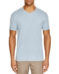 The Men's Store At Bloomingdale's V Neck Cotton Tee Faded Denim