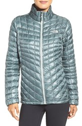 The North Face Women's 'Thermoball' Primaloft Front Zip Jacket Balsam Green