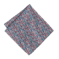 J.Crew Boys' Cotton Pocket Square In Liberty Pepper Floral Red Blue Multi