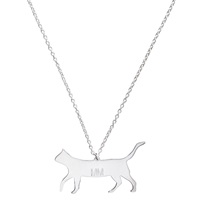 Mona Mara Cat Necklace Silver