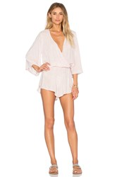 Blue Life Wild And Free Romper Blush