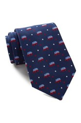 Alara Silk Lincoln Elephant Tie Blue