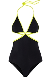 Agent Provocateur Two Tone Cutout Swimsuit