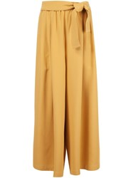 Tome Karate Belted Pants Yellow And Orange
