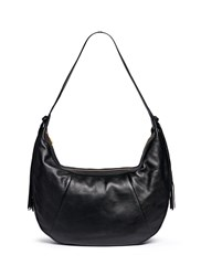 Elizabeth And James 'Zoe' Large Leather Hobo Bag Black