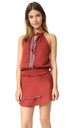 Saylor Amberly Mini Dress Rust