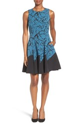 Anne Klein Women's Print Fit And Flare Dress