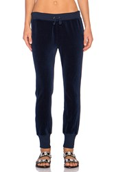 Pam And Gela Betsee Velour Sweatpant Navy