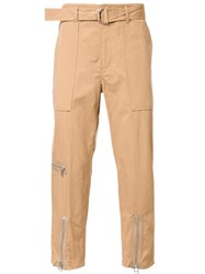 3.1 Phillip Lim Zipped Ankle Trousers Brown