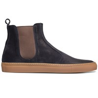 Buttero Navy Suede Chelsea Boots Blue
