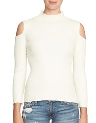 1.State Cold Shoulder Sweater Chalk