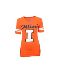 Soffe Women's Illinois Fighting Illini Football T Shirt Orange