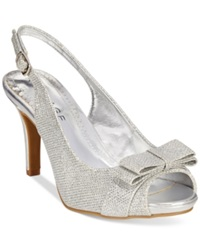 Rampage Fredrica Slingback Pumps Women's Shoes Silver Glitter