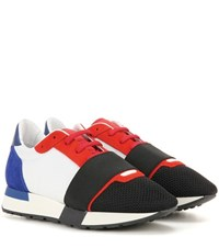 Balenciaga Race Runner Suede And Fabric Sneakers Multicoloured