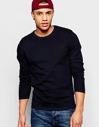 Jack And Jones Jack And Jones Knitted Jumper In Crew Neck Black