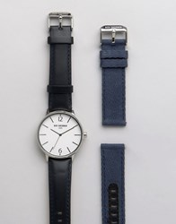 Ben Sherman Interchangable Strap Watch Gift Set Black