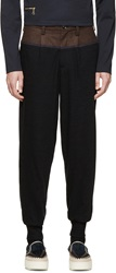 Kolor Navy And Brown Casual Trousers