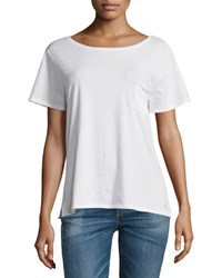 Rag And Bone Rag And Bone Jean X Boyfriend Short Sleeve Tee Bright White Size Medium Indigo White