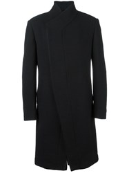Tom Rebl Concealed Fastening Mid Coat Black