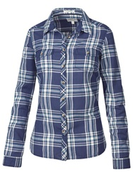 Fat Face Classic Fit Check Shirt Navy