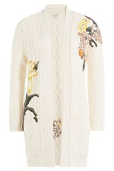 Valentino Cashmere Wool Embroidered Cardigan Beige