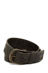 A. Kurtz Shaw Embossed Leather Belt Black