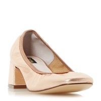 Dune Artie Heeled Court Shoes Rose Gold