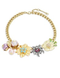 Gerard Yosca Multi Floral Link Necklace