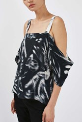 Printed Off The Shoulder Top By Boutique Multi