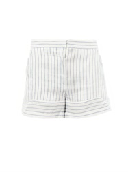 Band Of Outsiders Striped Linen Blend Shorts