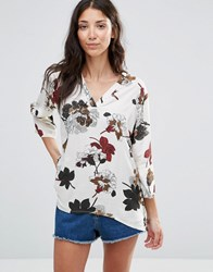 B.Young Gisa Floral Print Blouse Combi 1 Multi