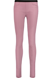 Helmut Lang Stretch Leather Leggings Pink