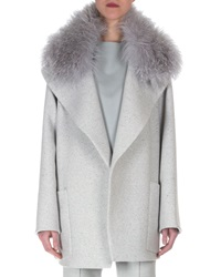 Akris Cashmere Fur Collar