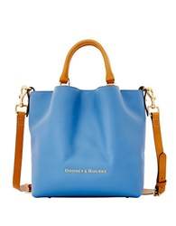 Dooney And Bourke City Small Leather Barlow Tote Blue